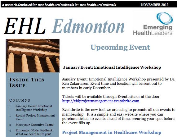 EHLs Edmonton Newsletter