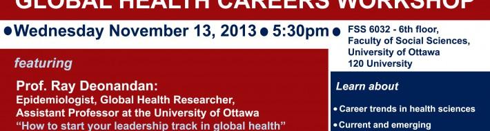 Careers in Global Health Workshop
