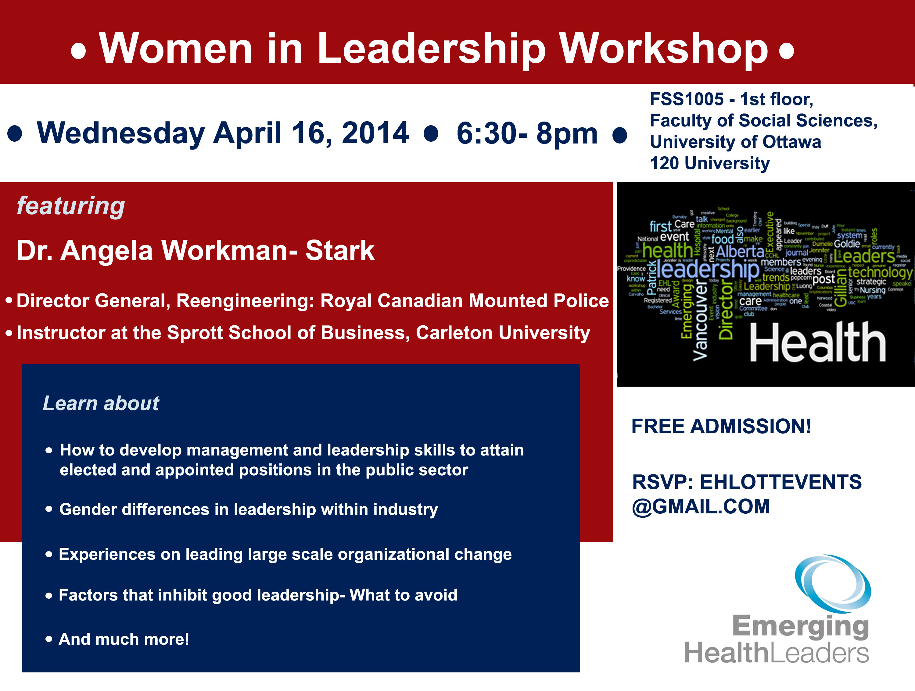 Women in Leadership Workshop with Dr. Angela Workman-Stark