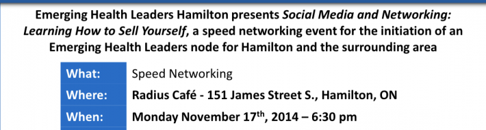 EHL is coming to Hamilton Check out Nov event