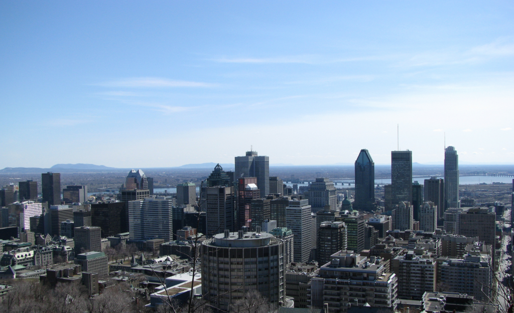 Montreal skyline from Mount Royal by shankar s